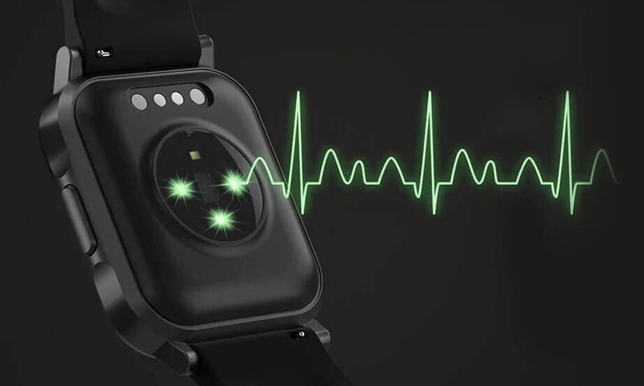 Smartwatch z monitoringiem tętna i snu Haylou LS02 Czarny