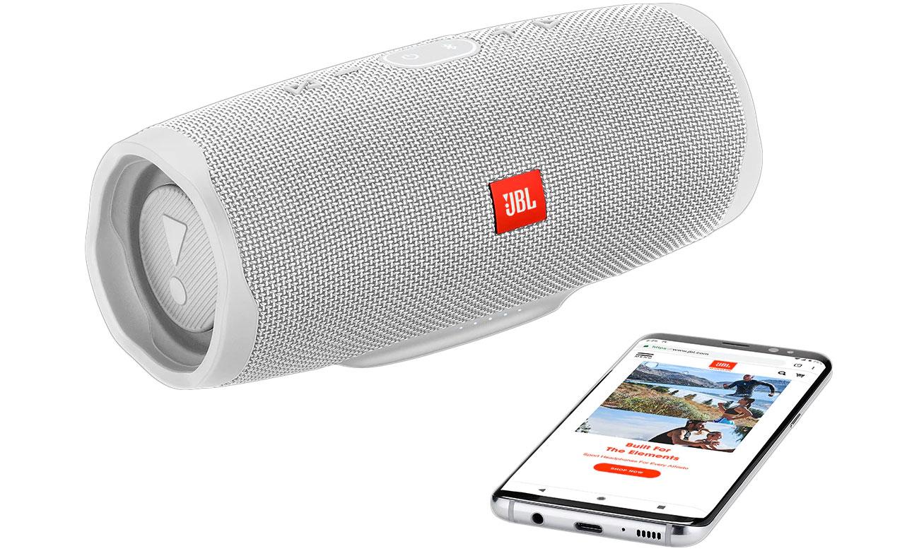 Głośnik Bluetooth z mikrofonem JBL CHARGE4WHT biały