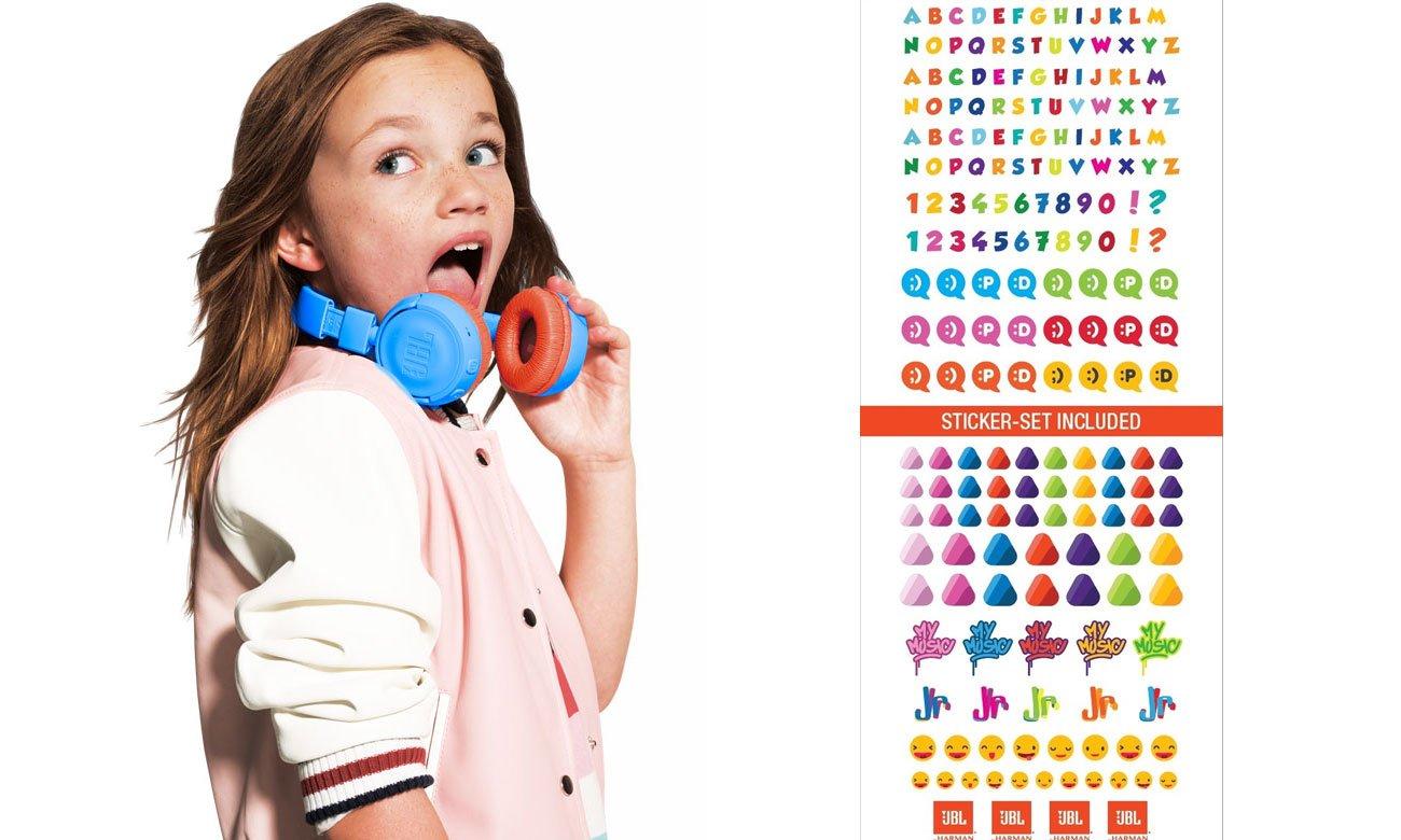 Wytzrymałe słuchawki dla dzieci JBL JUNIOR JR300BT
