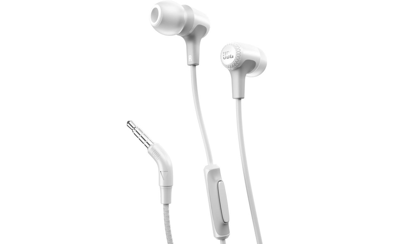 Słuchawki przewodowe JBL E15WHT białe