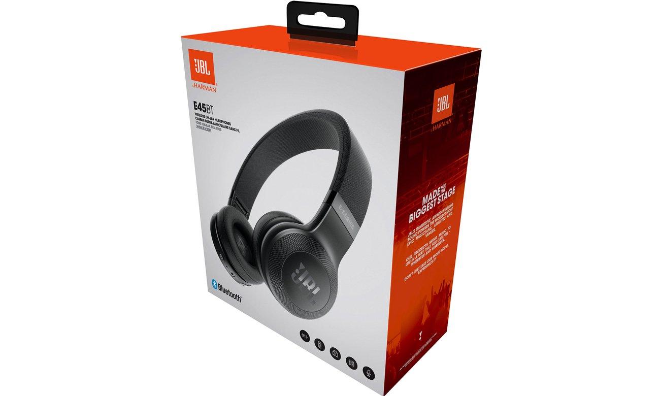 Zawartość opakowania słuchawek JBL E45BT czarnych