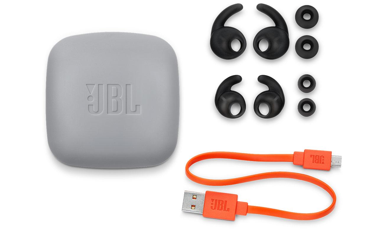 Akcesoria w zestawie w słuchawkach JBL Reflect mini 2