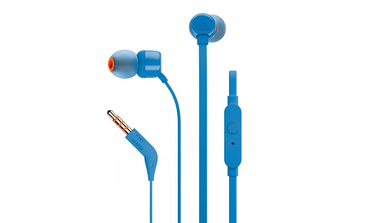 Słuchawki dokanałaowe JBL T110BLU niebieskie