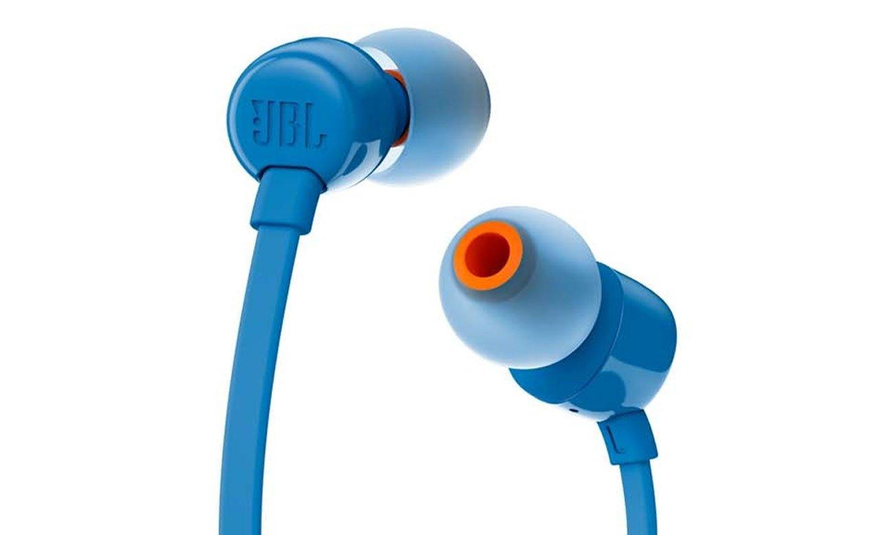 Silikonowe końcówki w zestawie ze słuchawkami JBL T110 BLU