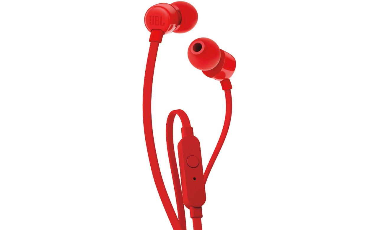Słuchawki dokanałowe JBL T110 RED czerwone