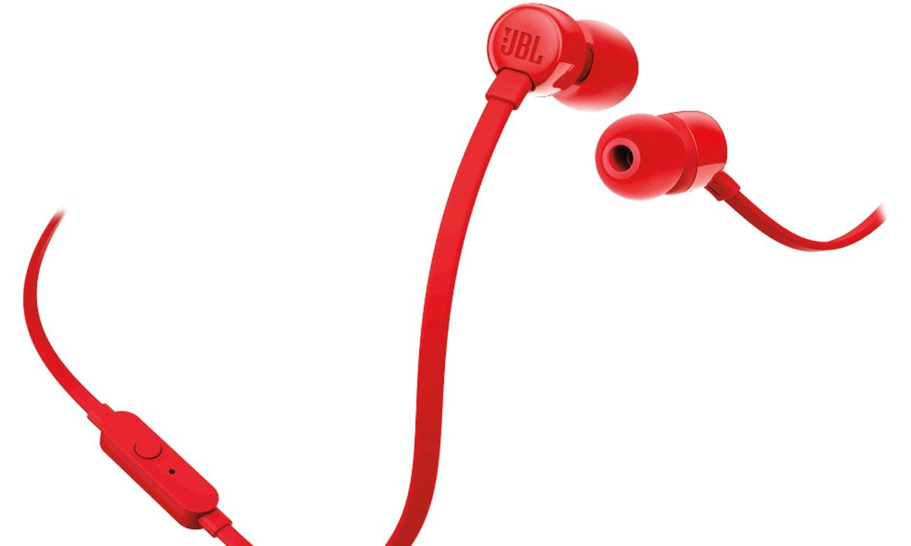 Silikonowe końcówki w zestawie w słuchawkach JBL T110