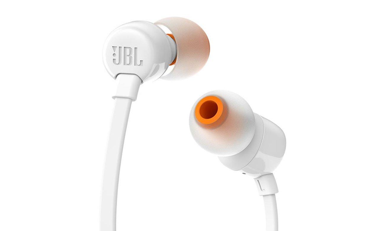 Silikonowe końcówki w zestawie ze słuchawkami JBL T110