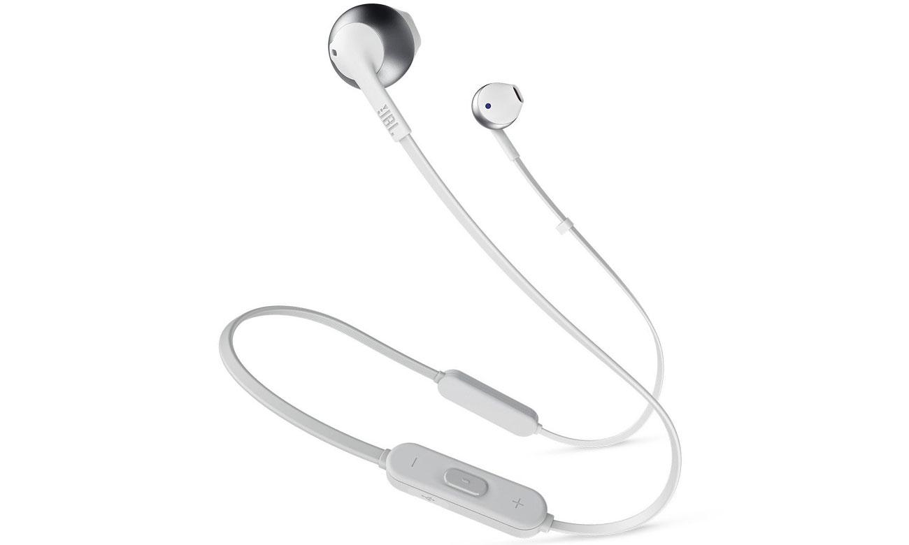 Słuchawki Bluetooth JBL T205BT srebrne