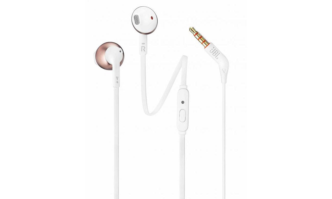 Słuchawki JBL T205RGD różowo-złote idealnie dopasowane