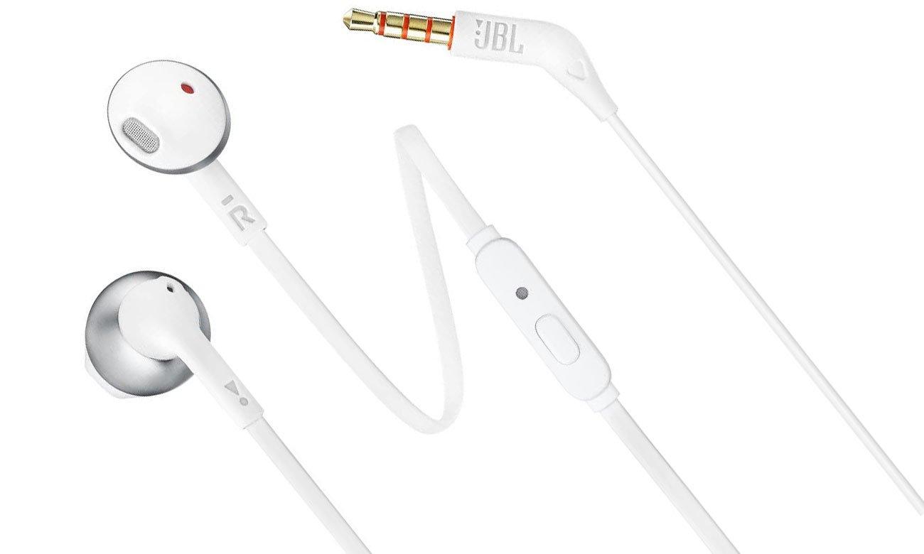 Słuchawki JBL T205WS srebrne idealnie dopasowane
