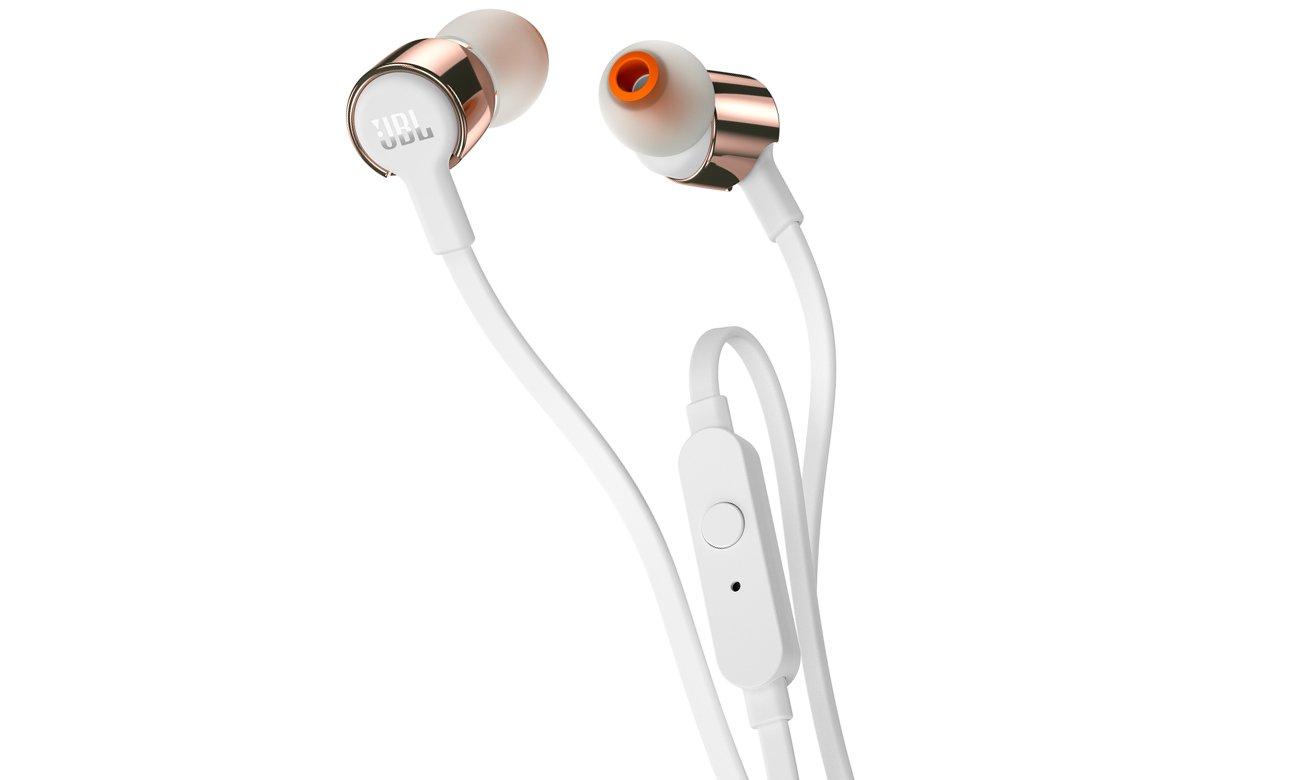 Słuchawki dokanałowe JBL T210WG biało-złote