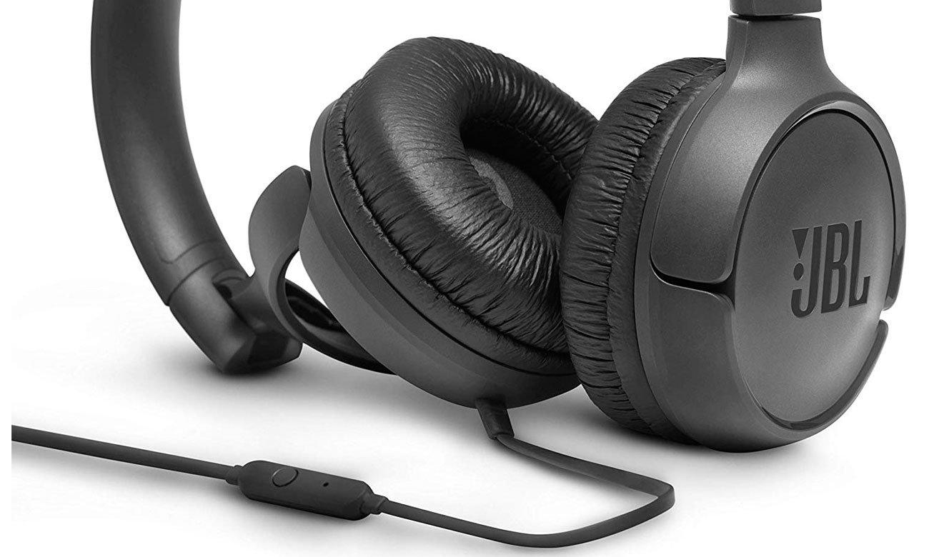 Słuchawkach z mikrofonem JBL T500 black