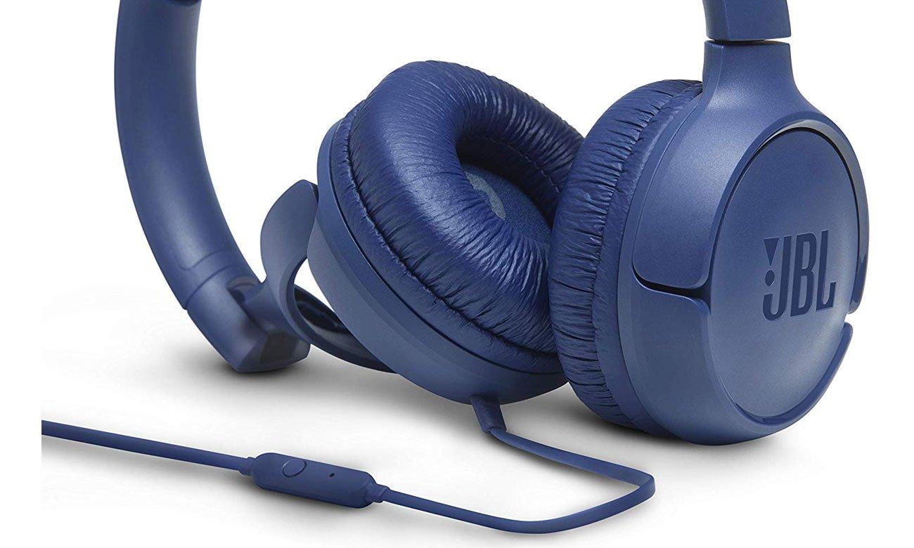 Słuchawkach z mikrofonem JBL T500 blue