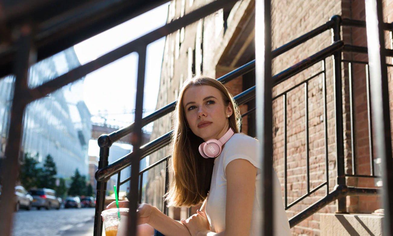 Bezprzewodowe słuchawki nauszne JBL T500BT różowe