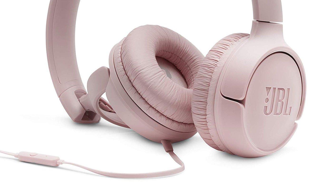 Słuchawkach z mikrofonem JBL T500 pink