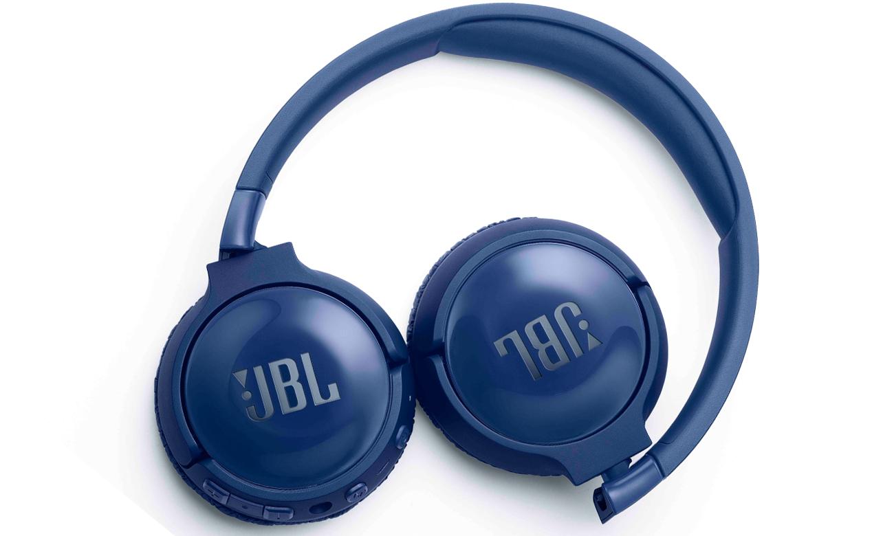 Składana konstrukcja słuchawek nausznych JBL T600BT NC