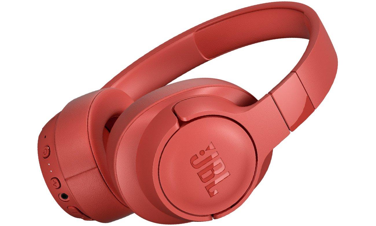 Słuchawkach bezprzewodowe JBL TUNE T750BT NC koralowe