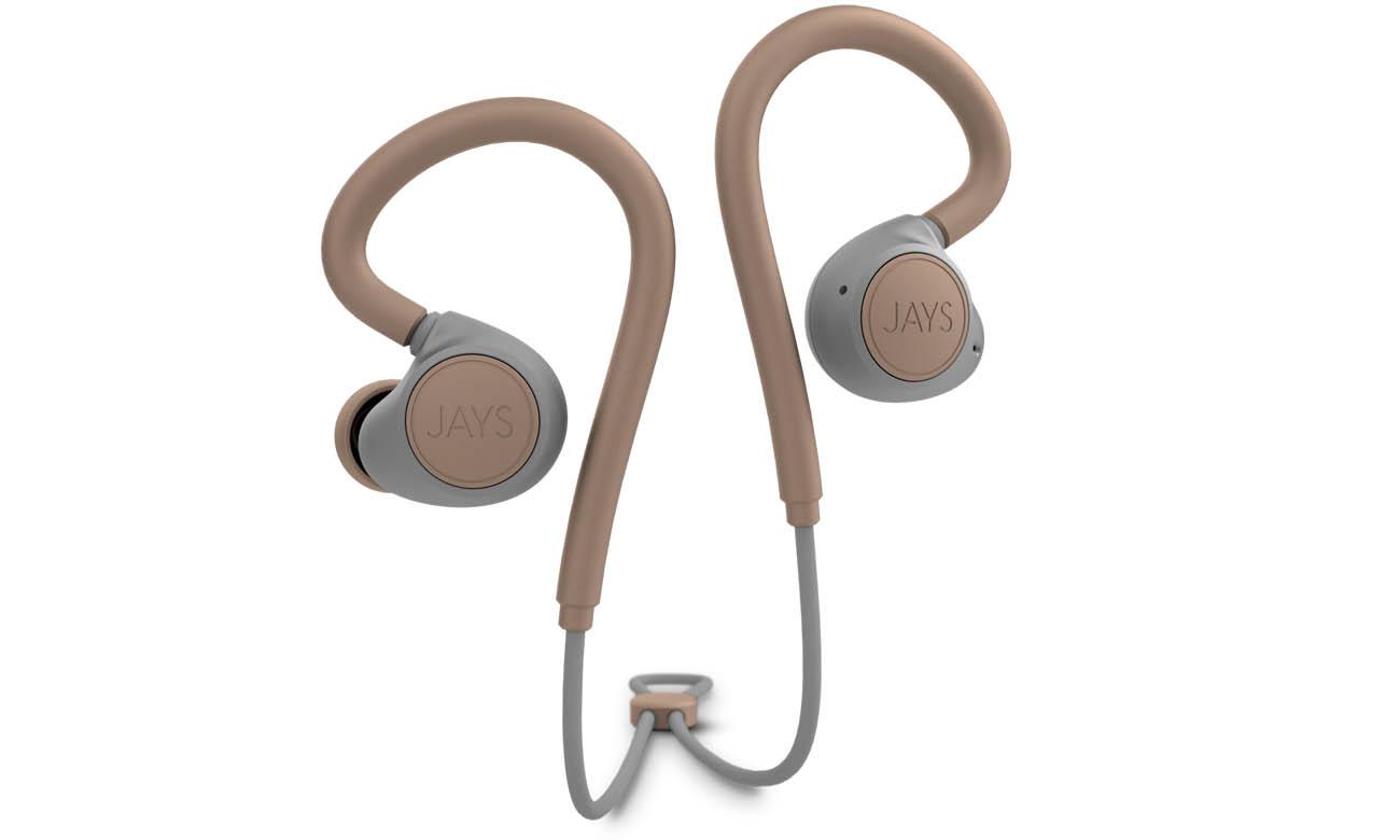 Słuchawki sportowe Jays m-Six Wireless Piaskowe