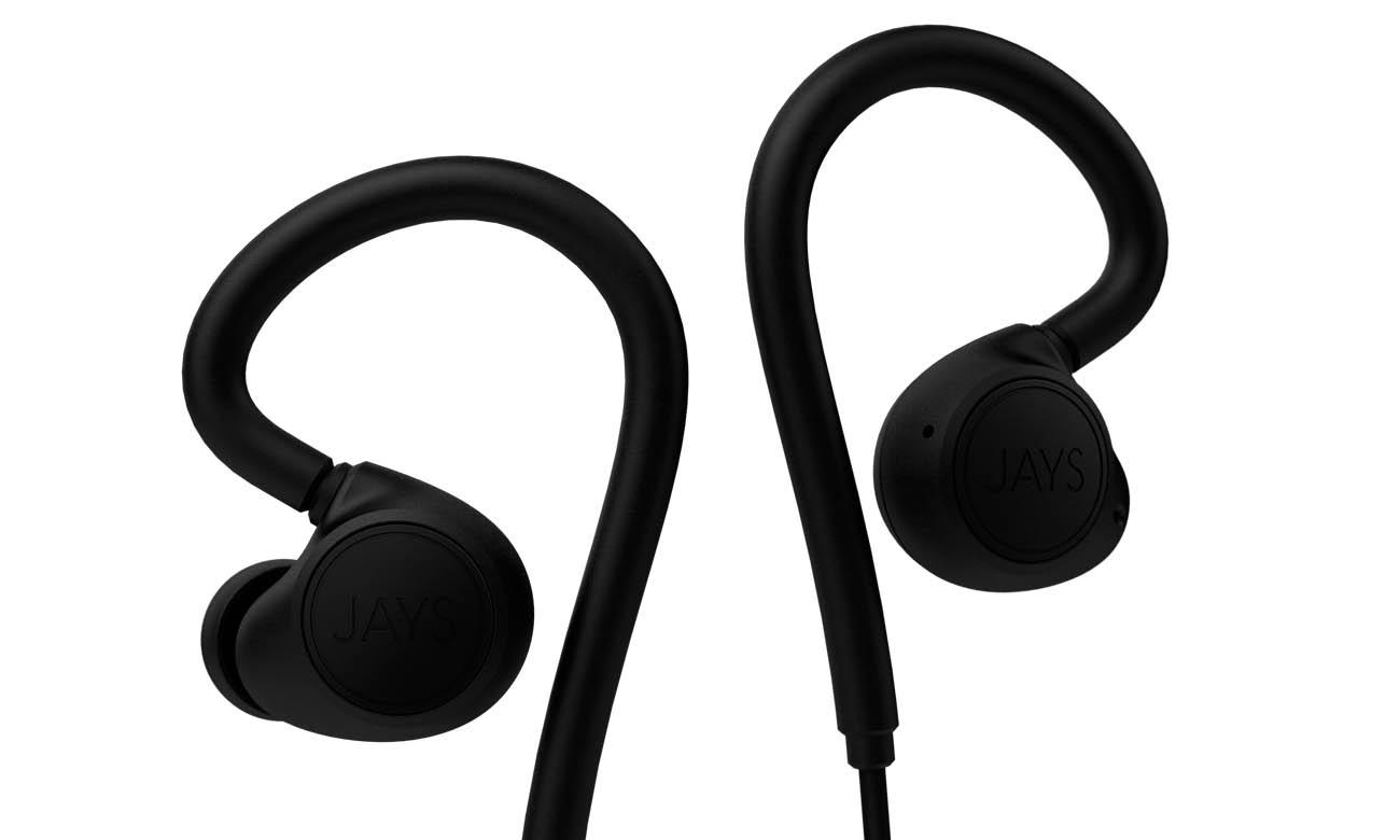 Słuchawki sportowe Jays m-Six Wireless Czarne