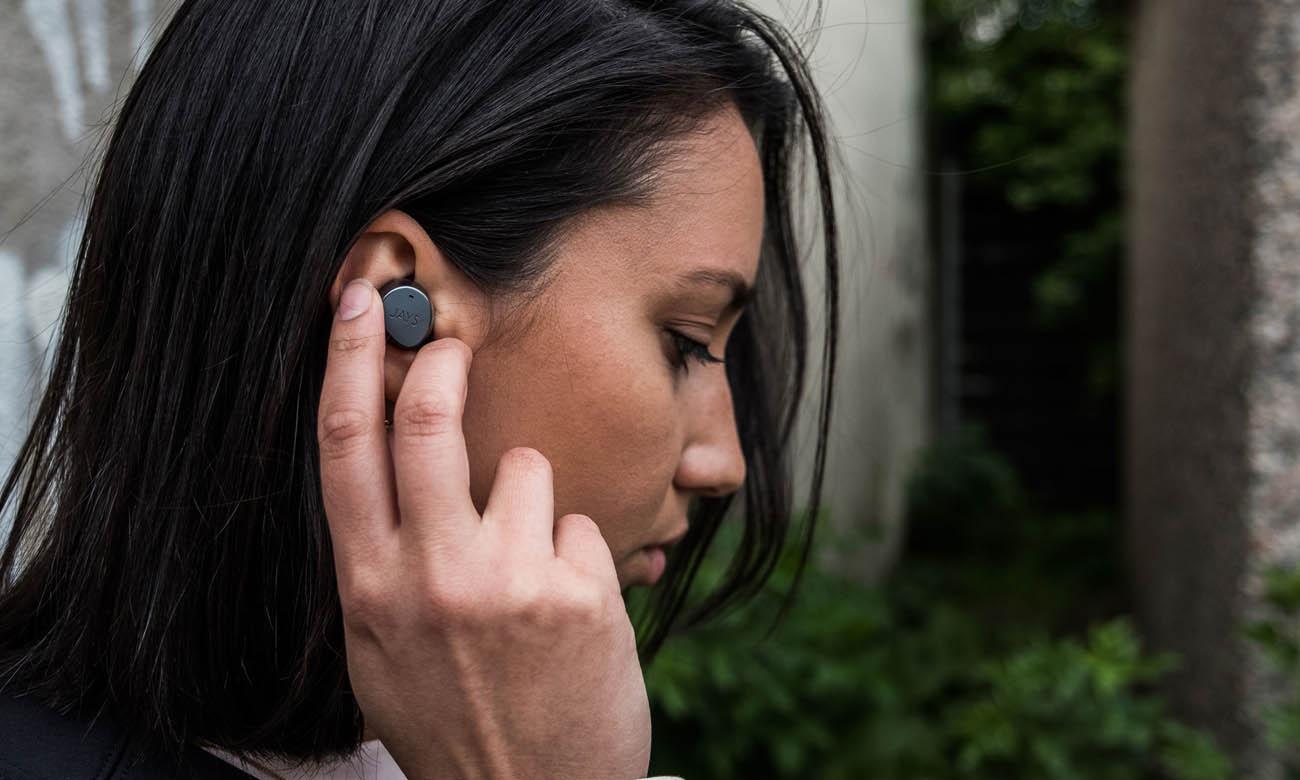 Słuchawki dokanałowe JAYS m-Seven sterowanie głosowe i dotykowe
