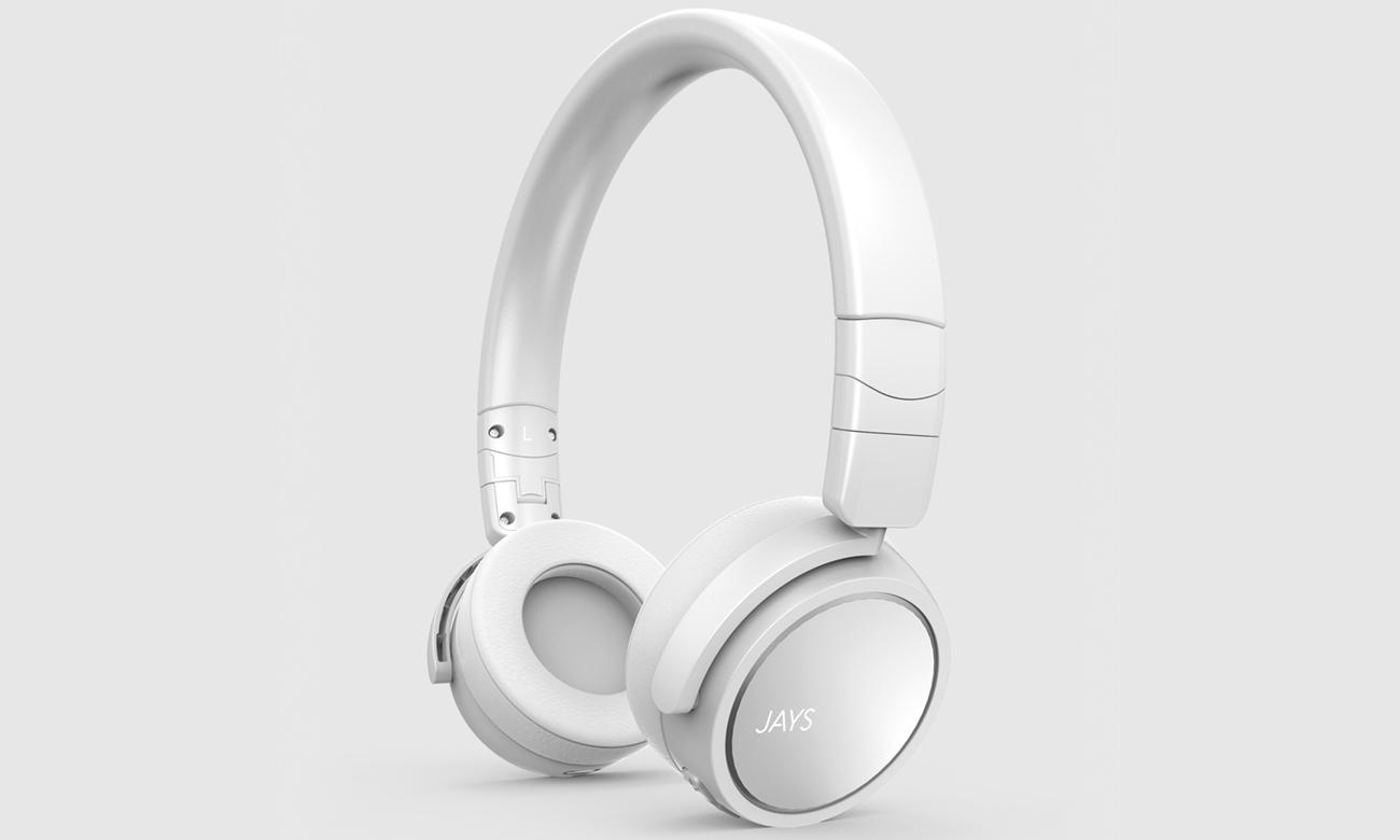 Słuchawki nauszne bezprzewodowe Jays x-Five białe