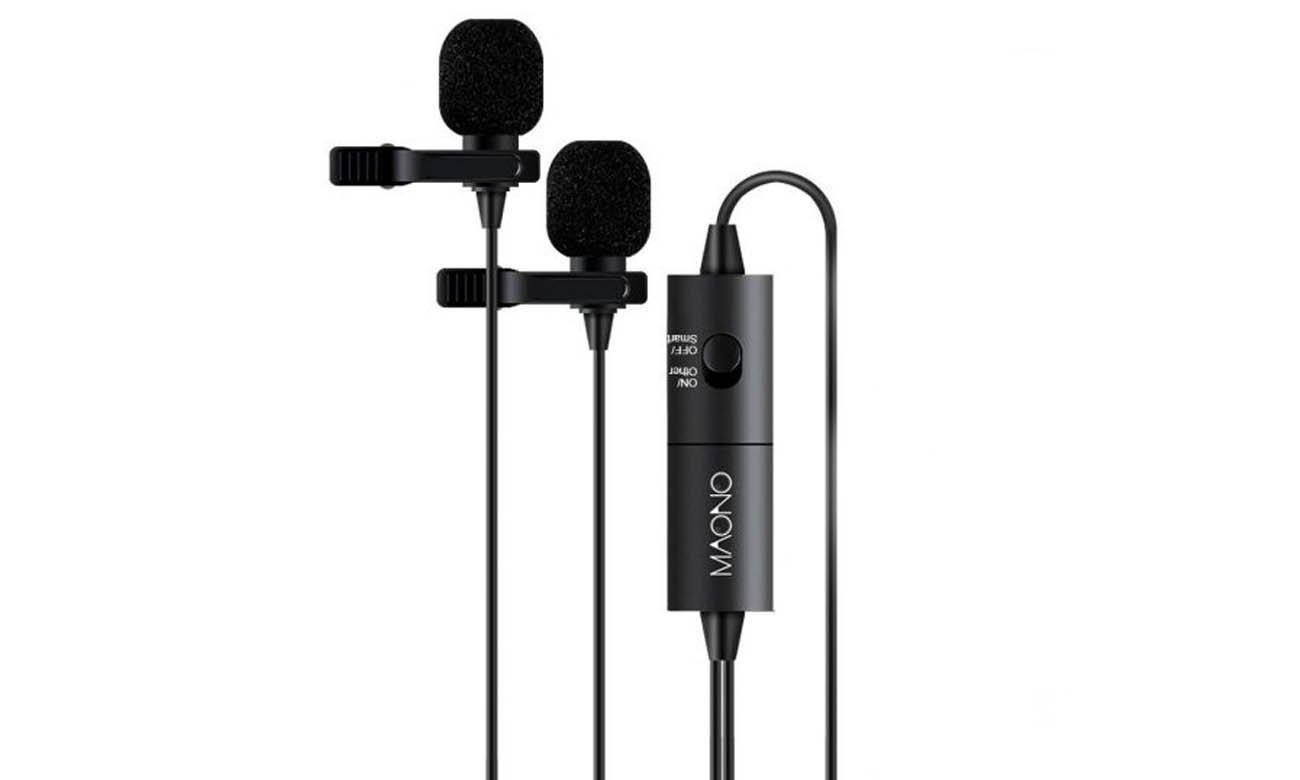 Podwójny mikrofon krawatowy MAONO AU-200 opinie
