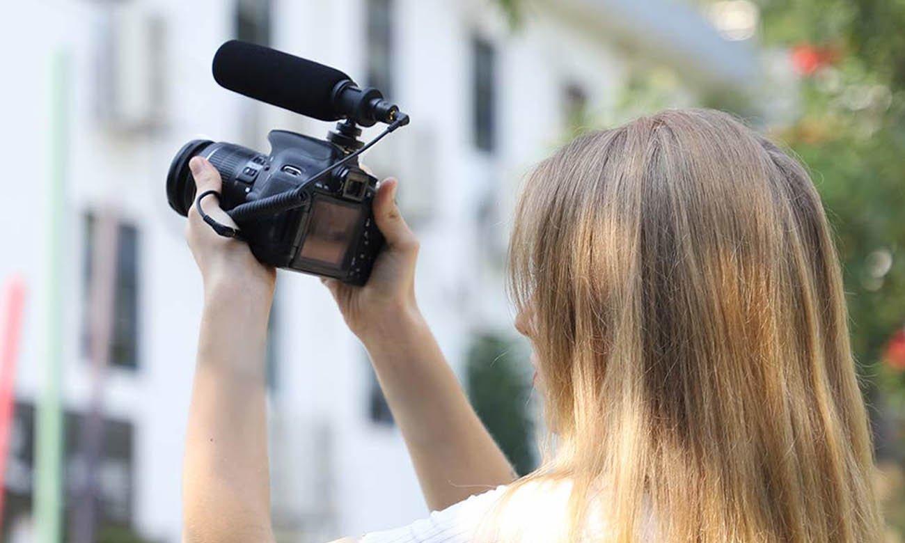 Mikrofon z kablem Jack 3,5 mm MAONO AU-CM10 idealny dla vlogerów