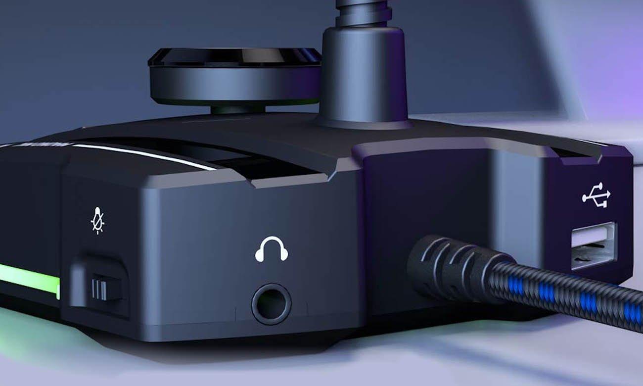 Mikrofon z wejściem USB i 3,5 mm MAONO AU-GM31 idealny dla graczy