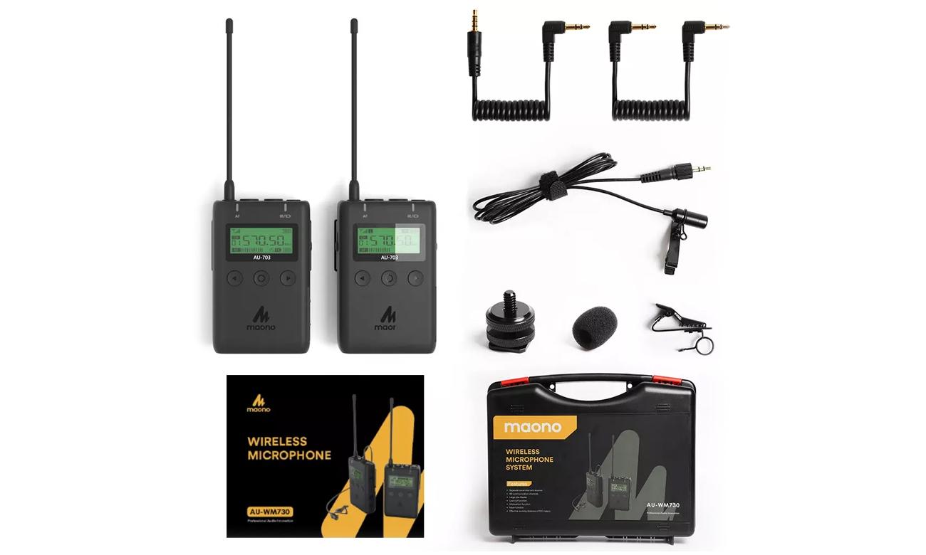 Bezprzewodowy system mikrofonów MAONO AU-WM730