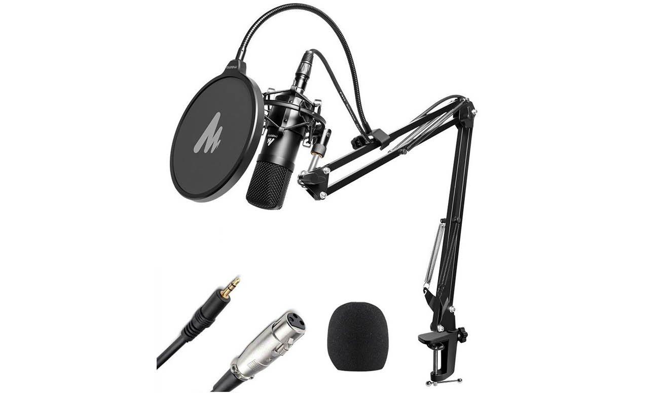 Mikrofon pojemnościowy MAONO MKIT-XLR zestaw z wysięgnikiem