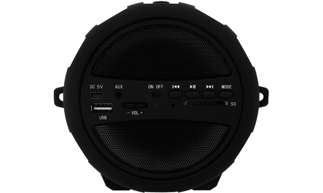 Złącza w głośniku Bluetooth Manta Pipe SPK204FM