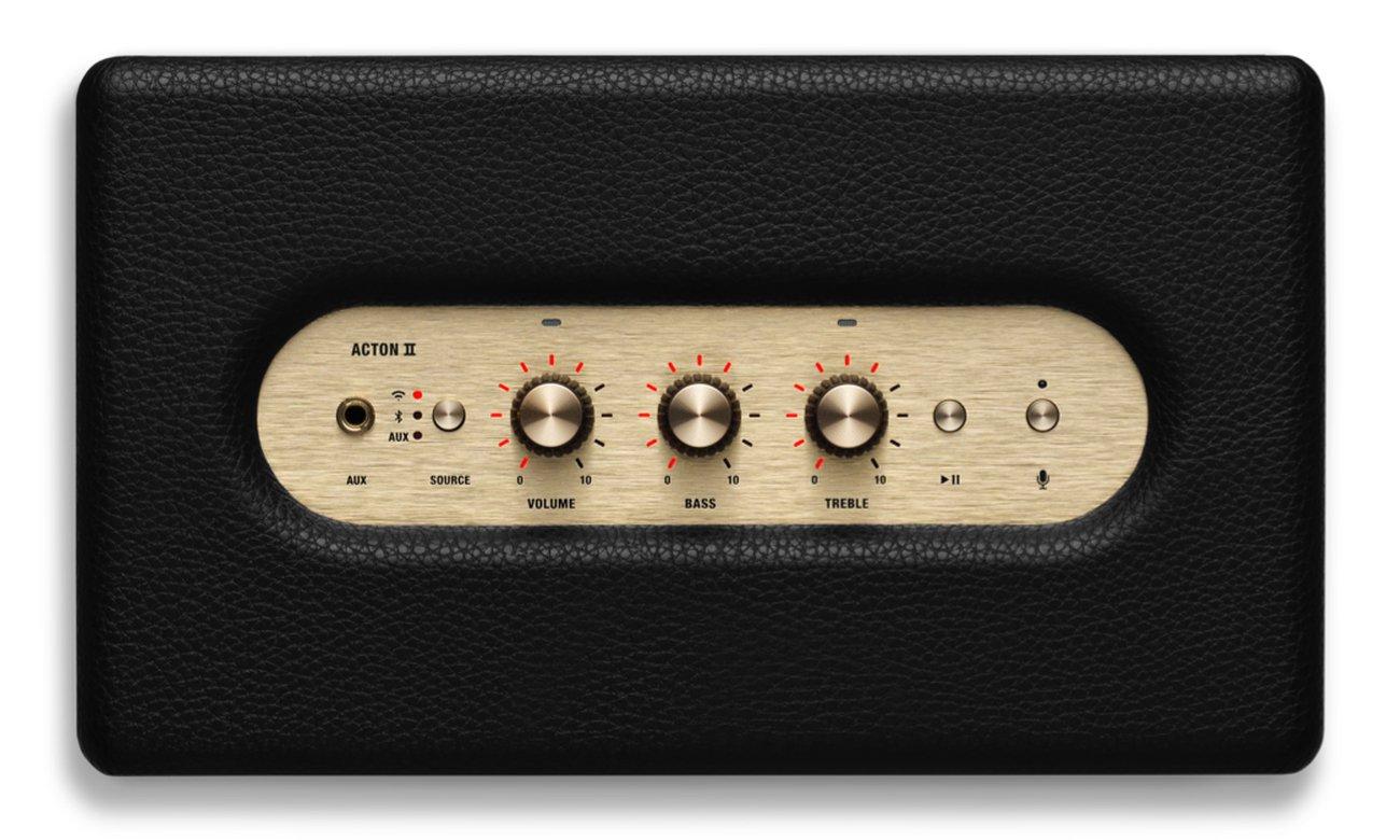 Marshall Acton II Voice Google z pokrętłami analogowymi