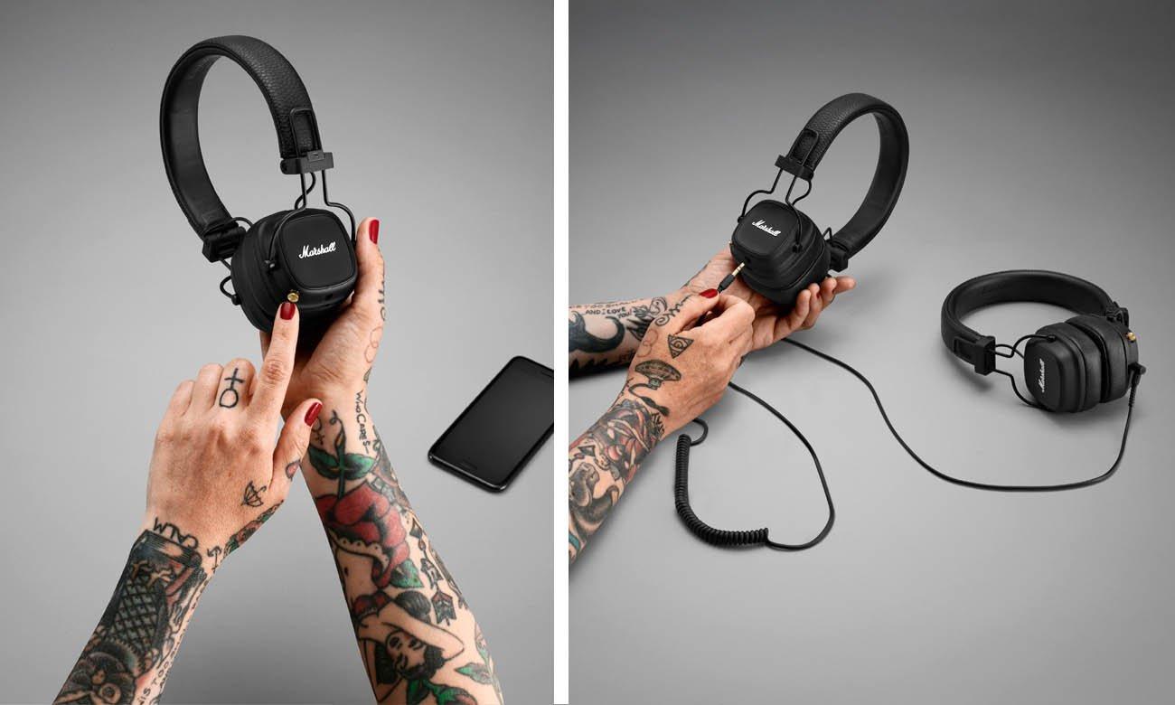 stylowe słuchawki nauszne marshall major iv