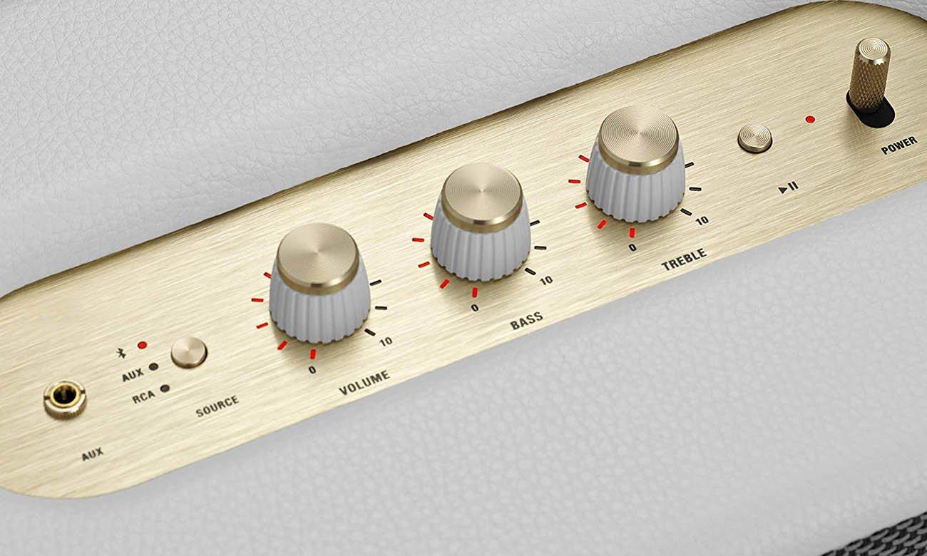 Pokrętła analogowe oraz sterowanie aplikacją Marshall Woburn II
