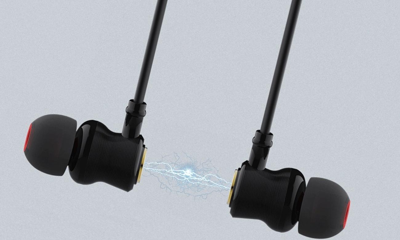 Wygodne słuchawki dokanałowe dla biegaczy Nillkin NK-E2-BK