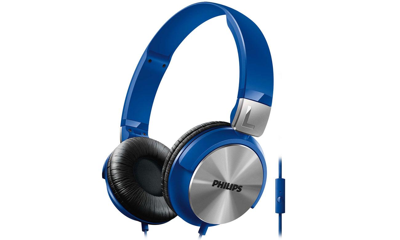 Słuchawki przewodowe Philips SHL3165BL niebieskie