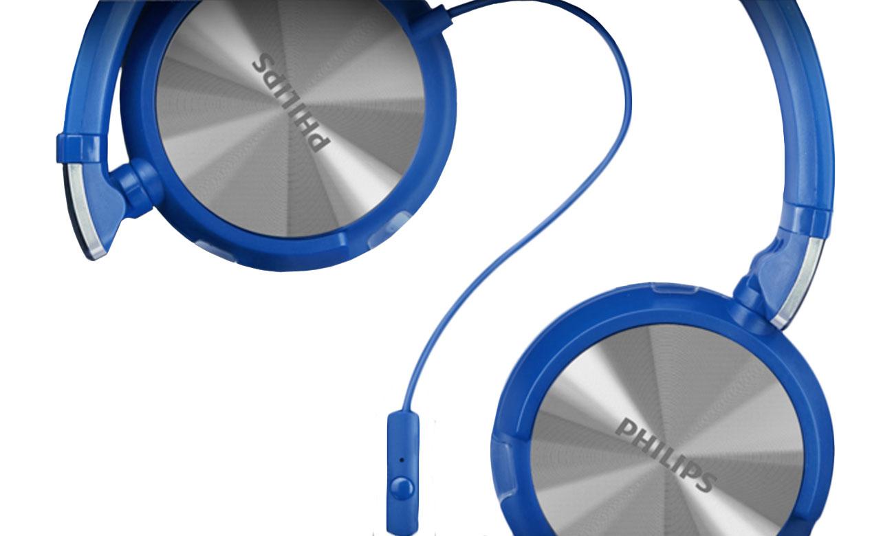 Składane słuchawki Philips SHL3165 niebieskie