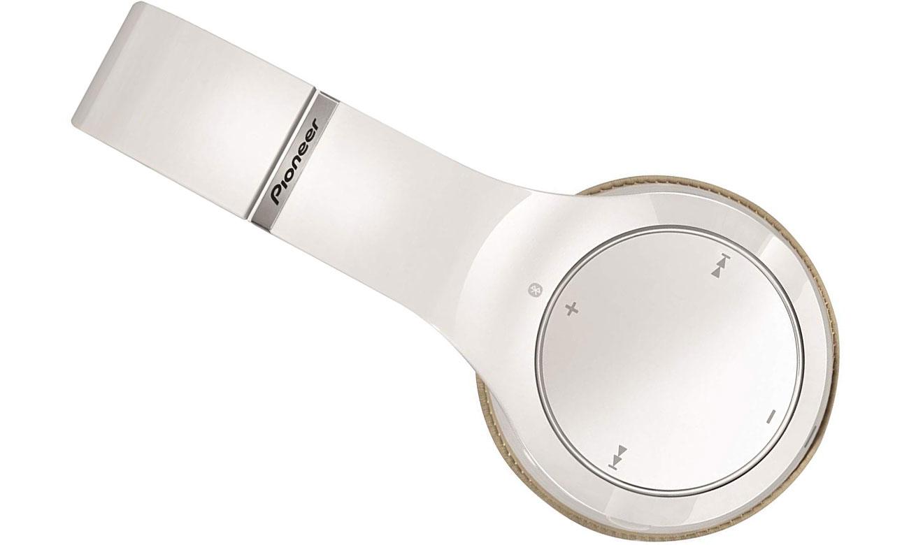 Praktyczne słuchawki nauszne SE-MJ771BT-W Pioneer