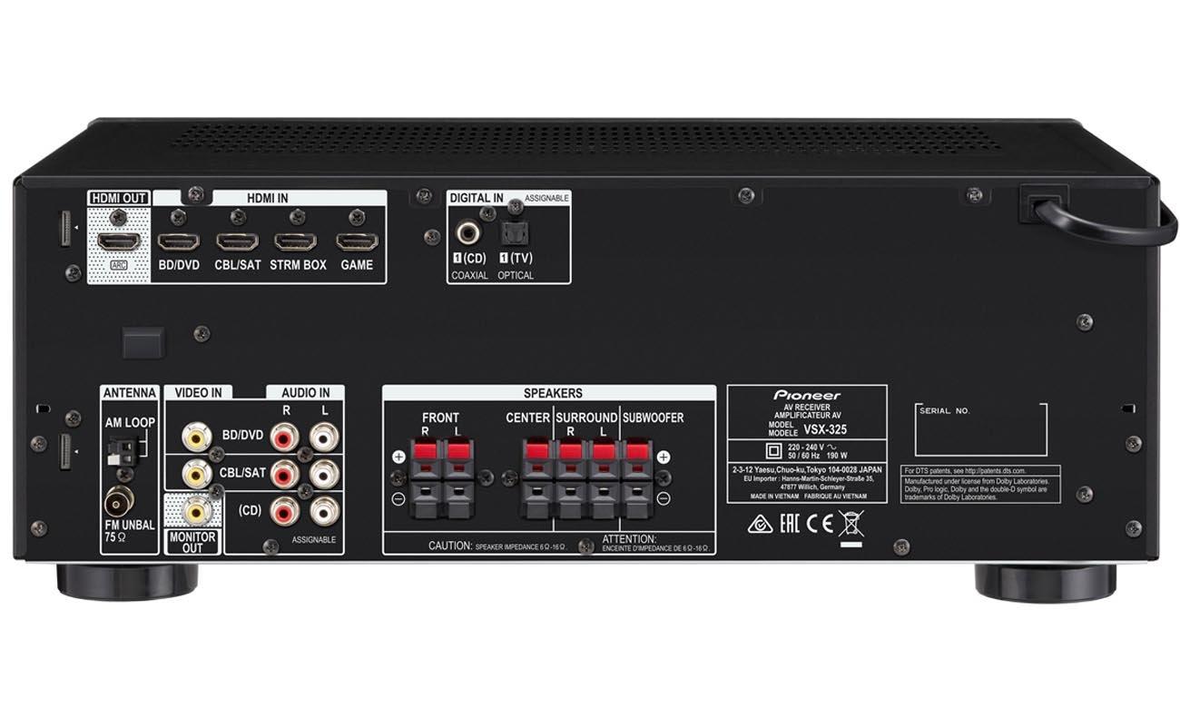 Potężny, 6-kanałowy wzmacniacz w amplitunerze Pioneer