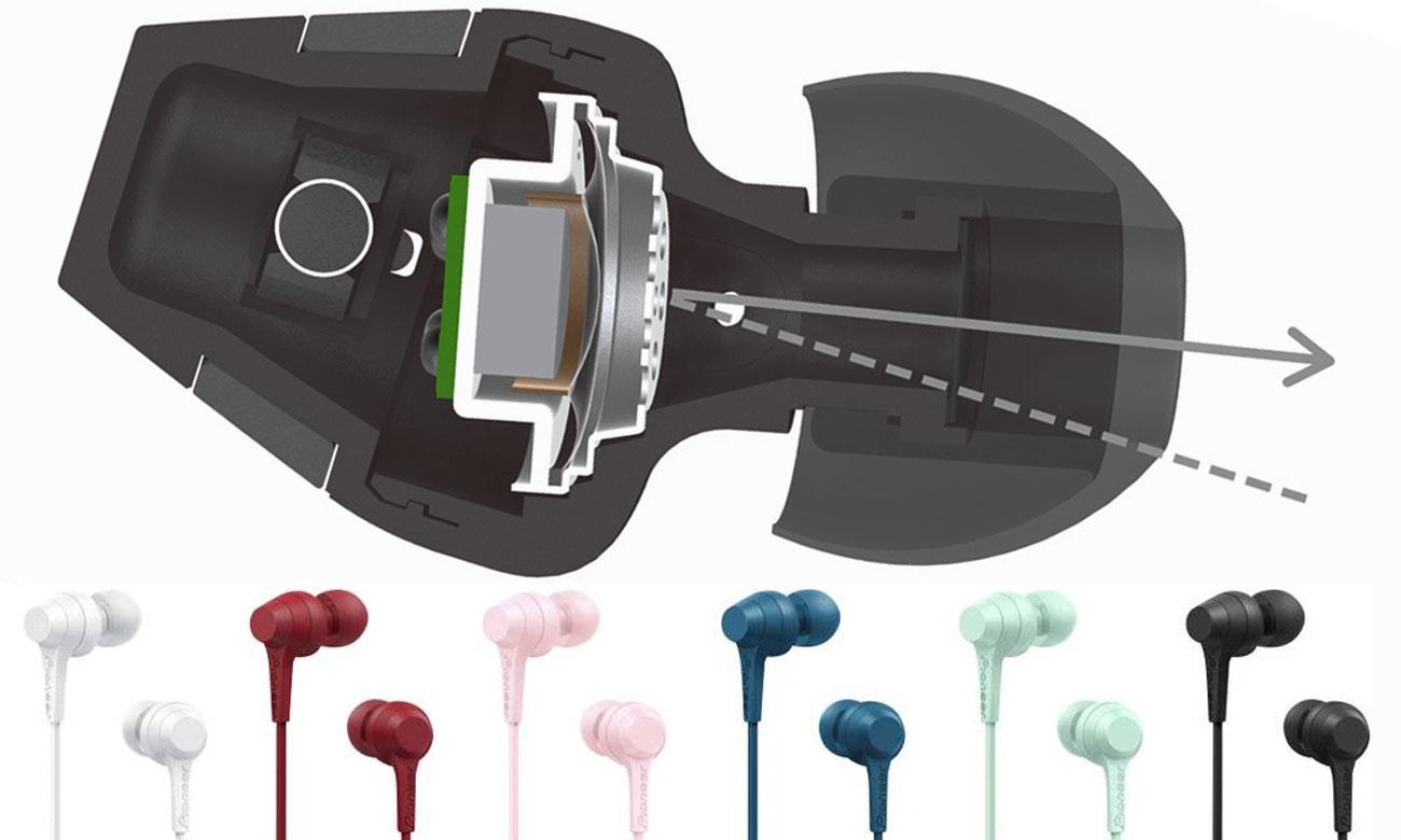 Dokanałowe słuchawki Pioneer SE-C1T
