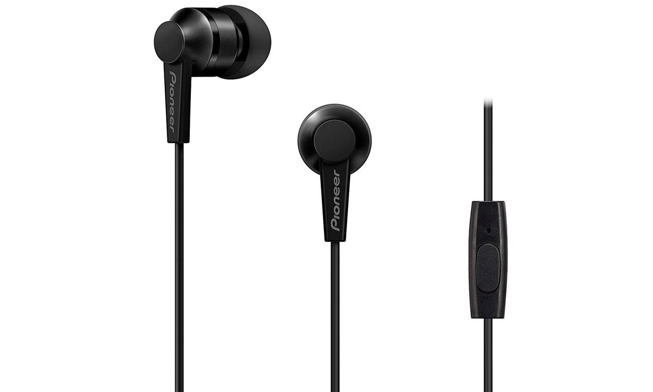 Słuchawki dokanałowe Pioneer SE-C3T-B Czarne