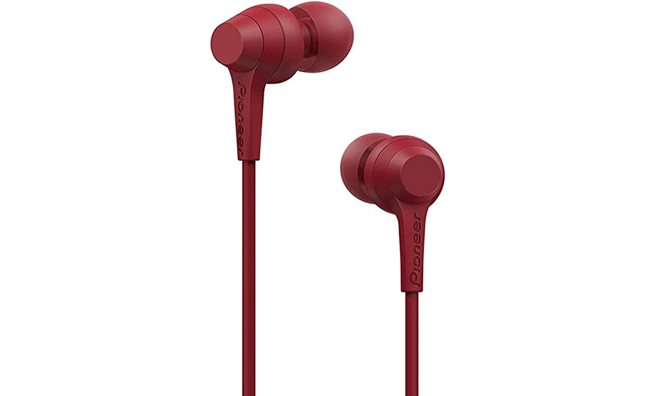Wygodne słuchawki dokanłowe Pioneer SE-C4BT-R czerwone
