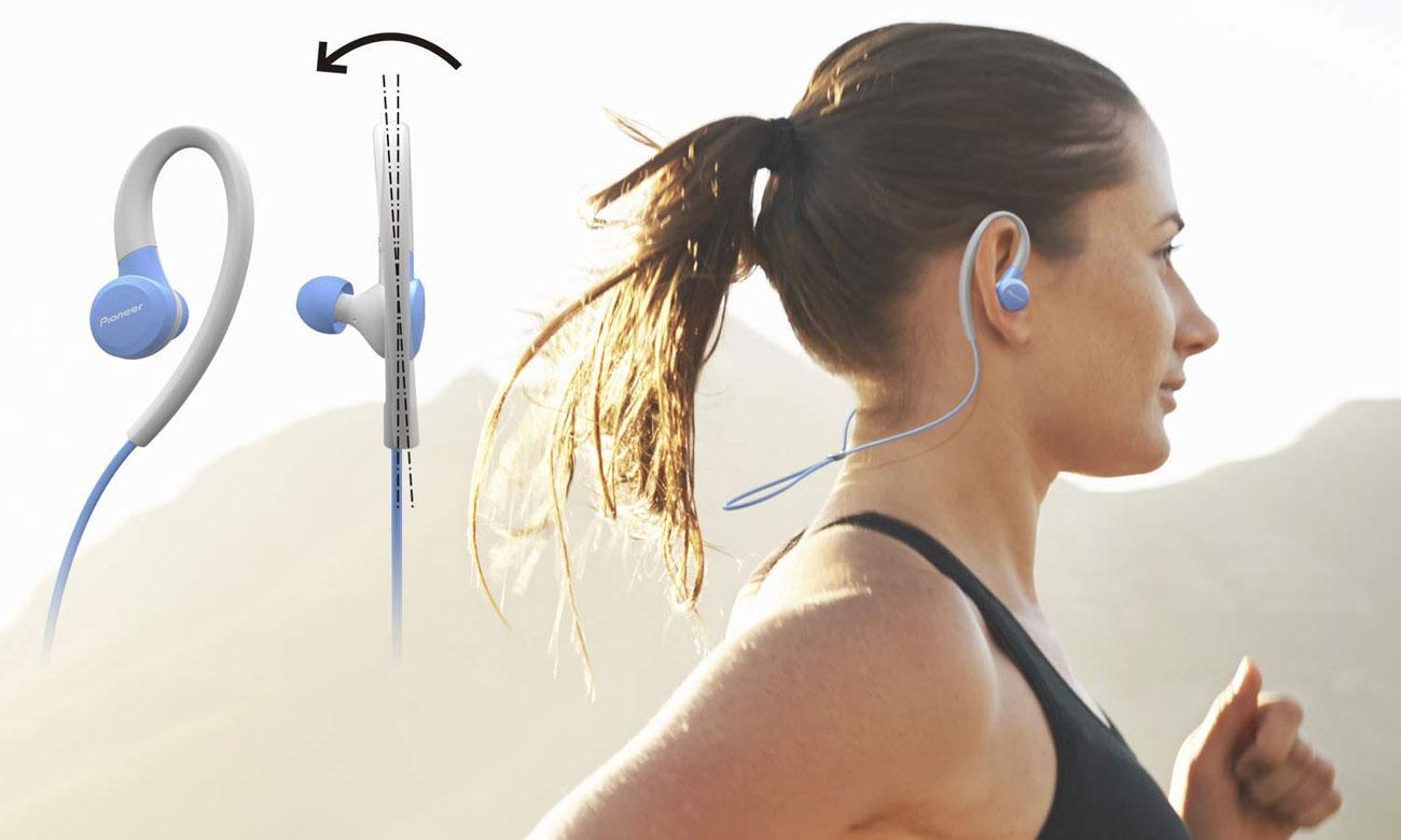 Słuchawki dokanłowe dla biegaczy Pioneer SE-E6BT-L niebieskie