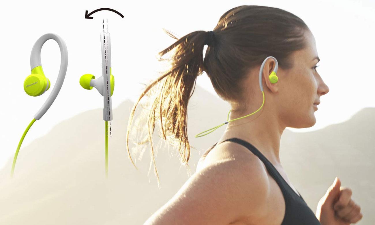 Słuchawki dokanłowe dla biegaczy Pioneer SE-E6BT -Y żółte