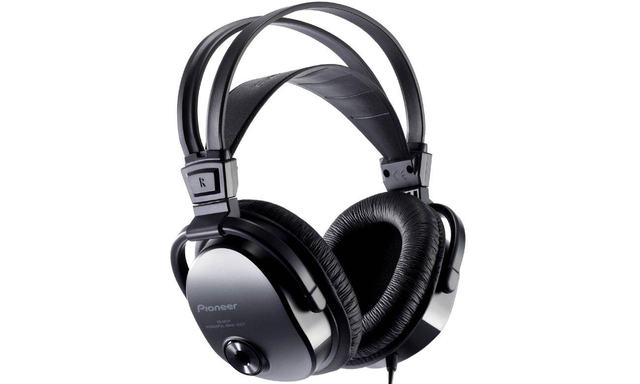 Lekkie, nauszne słuchawek Pioneer SE-M521 czarne