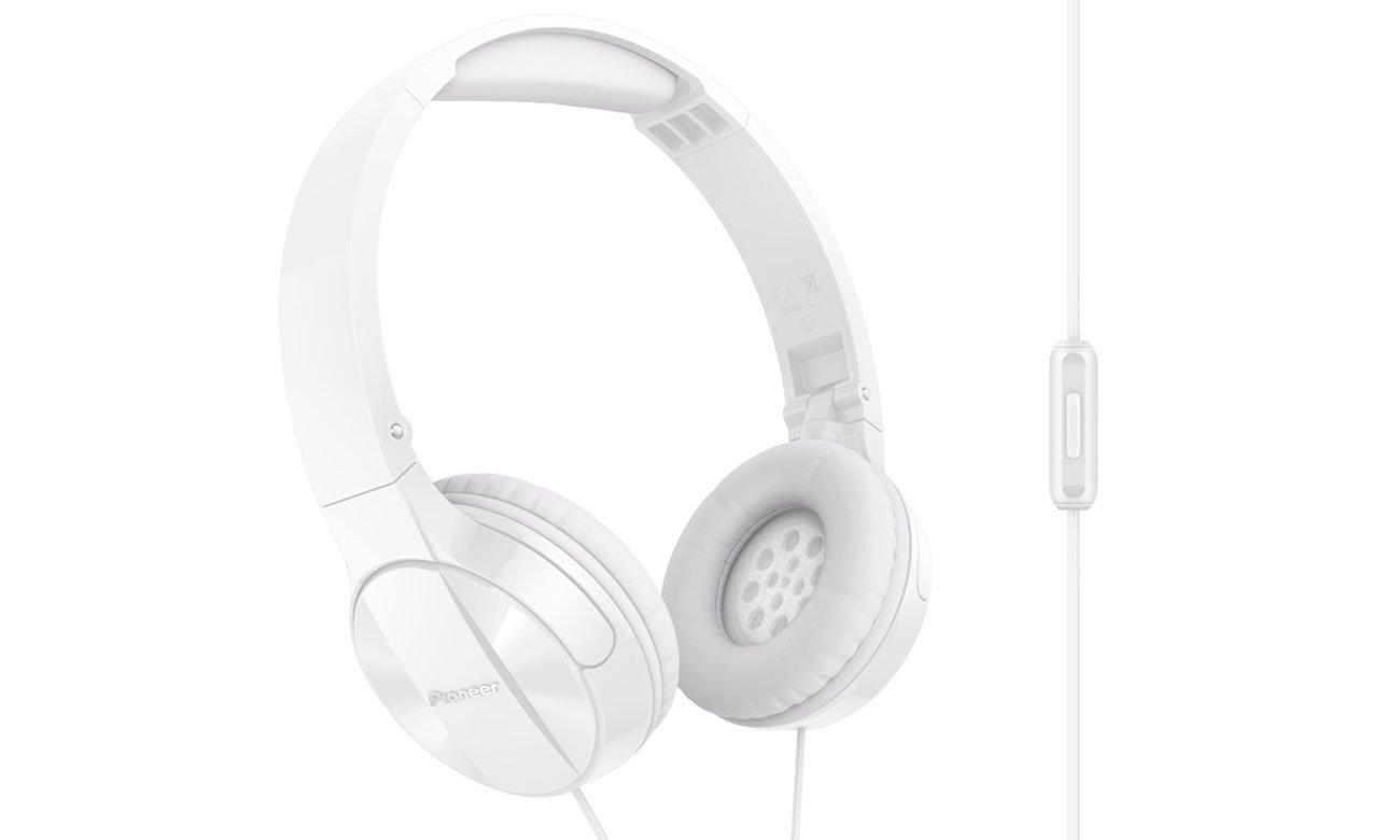 Słuchawki nauszne Pioneer SE-MJ503T-W białe