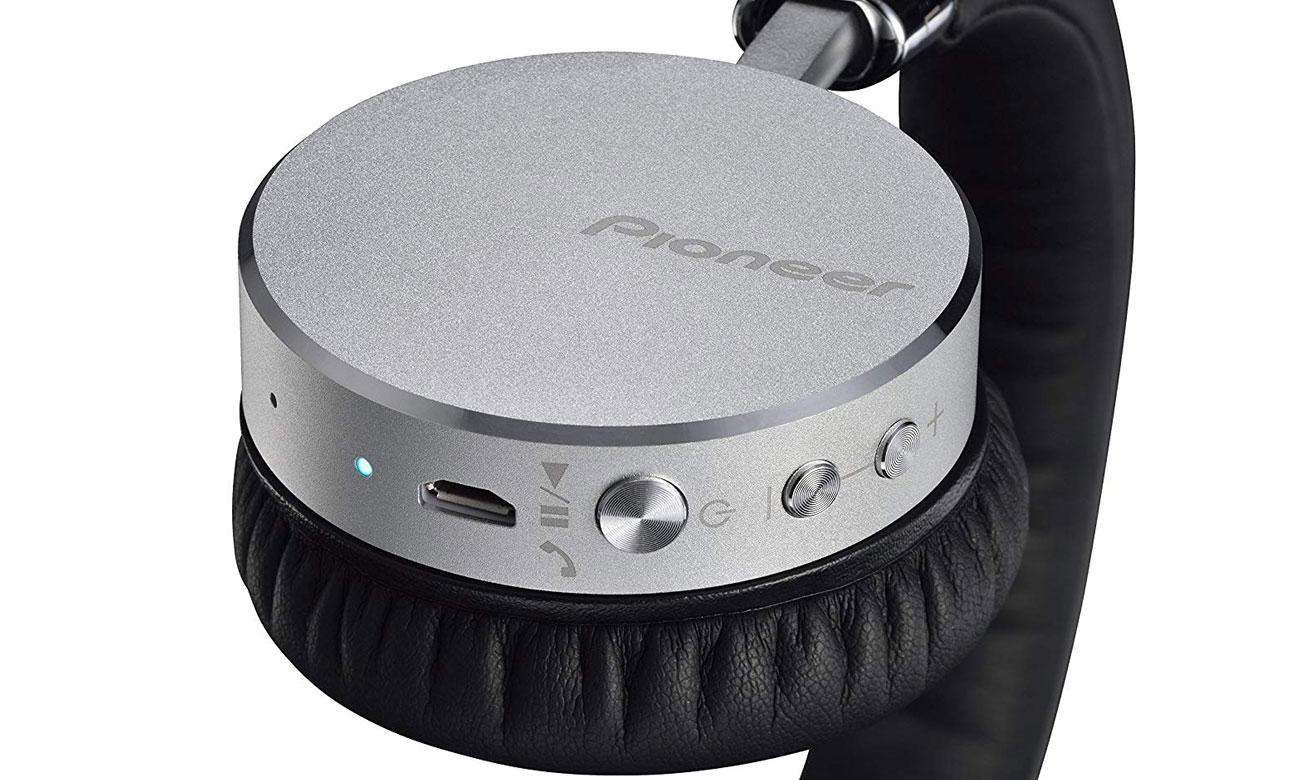 Słuchawki Bluetooth Pioneer SE-MJ561BT srebrne