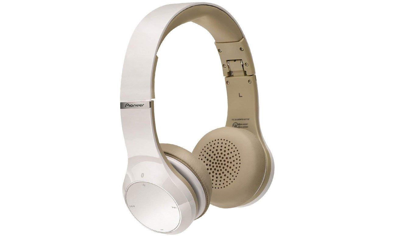 Brzmienie słuchawek bezprzewodowych Pioneer SE-MJ771BT-W