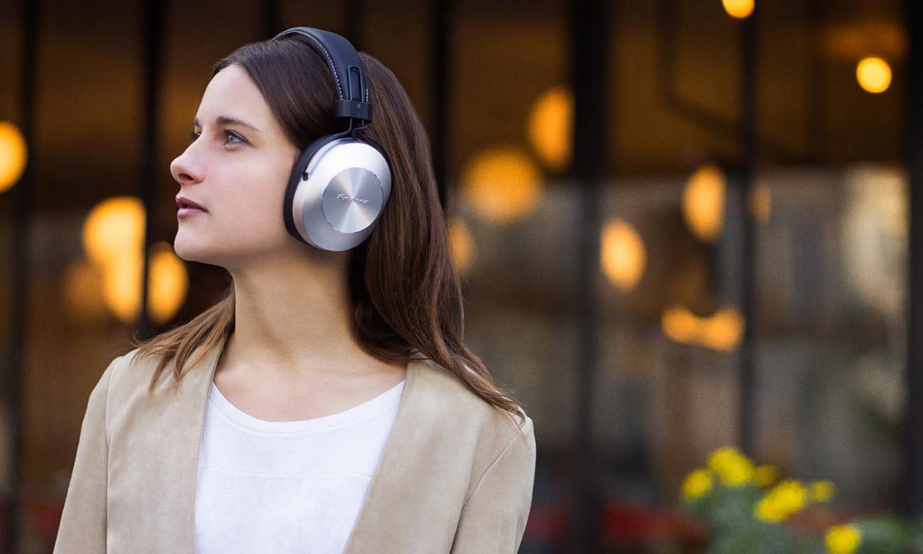 Brzmienie w wysokiej jakości w słuchawkach Pioneer SE-MS7BT Silver