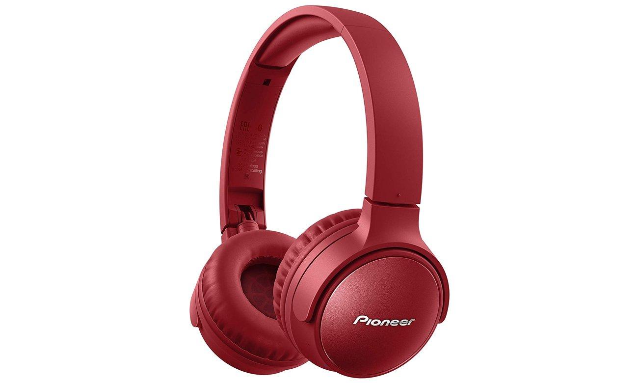 Czerwone słuchawki bezprzewodowe Pioneer SE-S6BN ANC